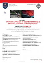 I RISCHI NATURALI E LE RISORSE GEOLOGICHE: dalla ricerca universitaria alla libera professione